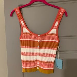 Forever 21 striped knit tank
